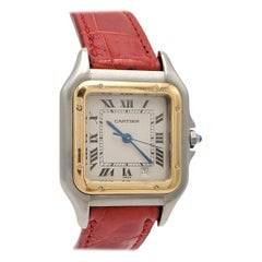 Cartier Panthere Stainless Steel and Yellow Gold Ladies Watch