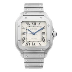 Cartier Santos Stainless Steel Silver Dial Automatic Men's Watch WSSA0010