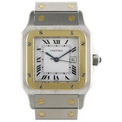 Cartier Santos Steel and Gold Wristwatch