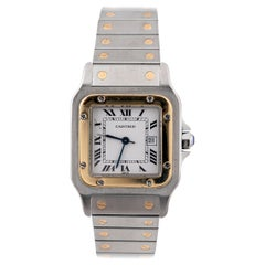 Cartier Santos Steel and Gold Automatic Wristwatch