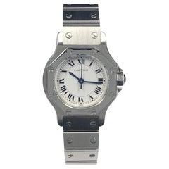 Cartier Santos Steel Ladies Automatic Wrist Watch