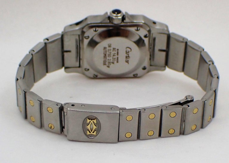Cartier Santos Two-Tone Automatic Ladies Watch For Sale 1