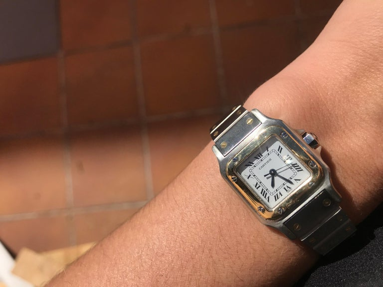 Cartier Santos Two-Tone Automatic Ladies Watch For Sale 3