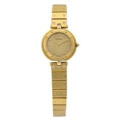 Cartier Santos Vendome 18 Karat Gold Diamond Quartz Ladies Watch Ref 8191