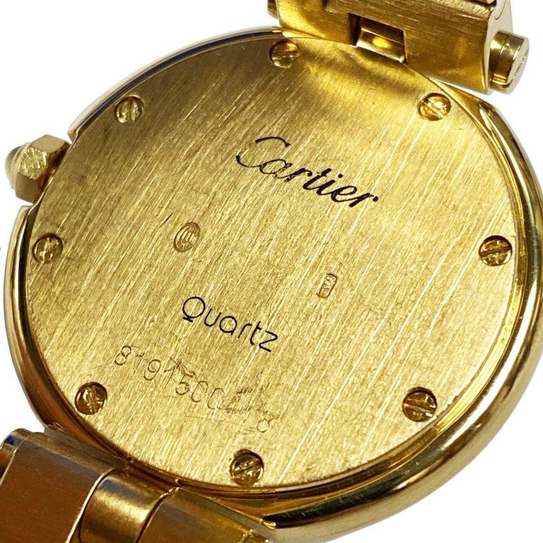 Women's or Men's Cartier Santos Vendome Gold Ladies Quartz Bracelet Wrist Watch For Sale
