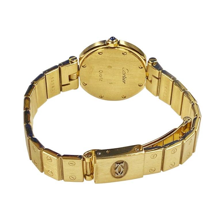 Cartier Santos Vendome Gold Ladies Quartz Bracelet Wrist Watch For Sale 1