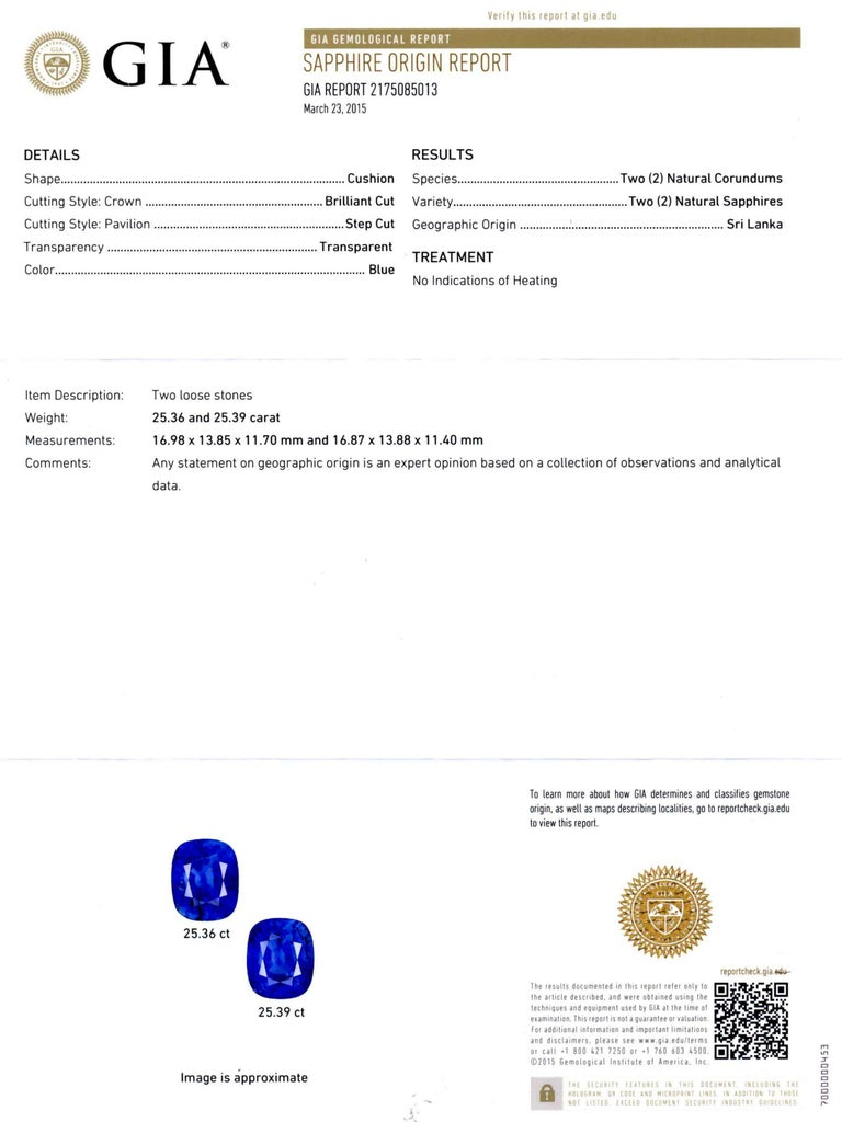 Cartier Sapphire and Diamond GIA and AGL Certified Ear Clips For Sale 1