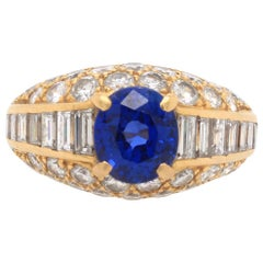 Cartier Sapphire and Diamond Ring, 1960s