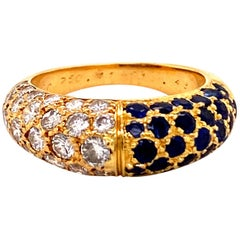 Cartier Sapphire and Diamond Ring in 18 Karat Yellow Gold