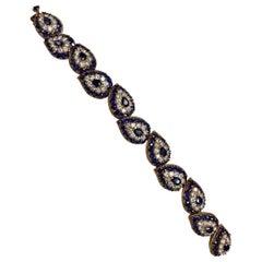 Cartier Sapphire Diamond Bracelet Bangle