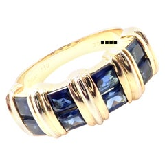 Cartier Sapphire Yellow Gold Band Ring