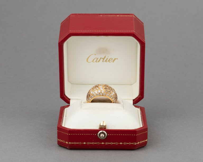 Cartier Sauvage Diamonds Ring In Good Condition For Sale In Saint-Ouen, FR