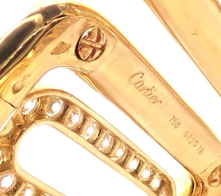 Cartier Scarab 15.4 Carat Diamond Yellow Gold Cuff Bangle Bracelet For Sale 5