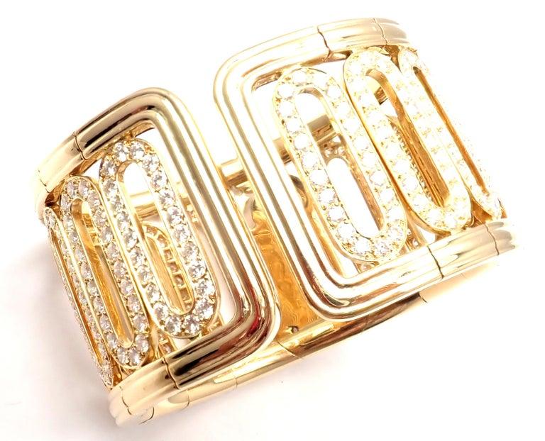 Cartier Scarab 15.4 Carat Diamond Yellow Gold Cuff Bangle Bracelet For Sale 7