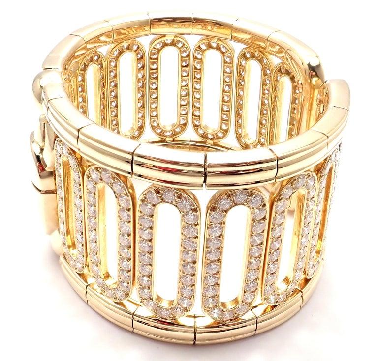 Cartier Scarab 15.4 Carat Diamond Yellow Gold Cuff Bangle Bracelet For Sale 1
