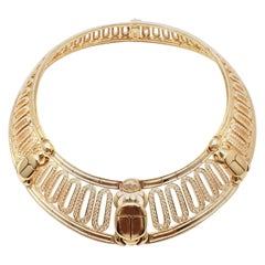 Cartier Scarab 20.72 Carat Diamond Yellow Gold Collar Choker Necklace