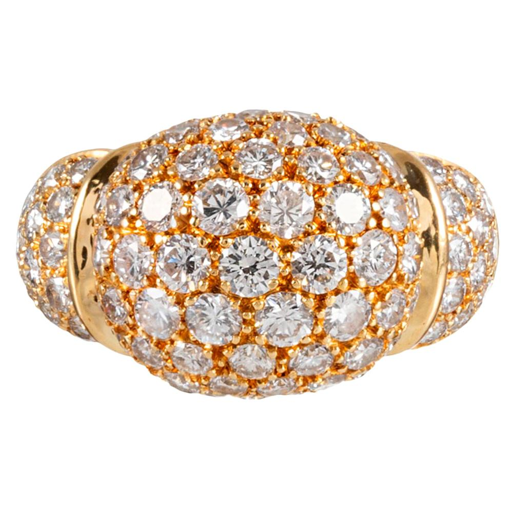Cartier Sculpted Diamond Dome Ring