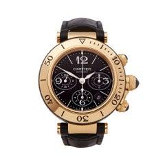 Cartier Seatimer Chronograph 18K Yellow Gold 3027 Wristwatch
