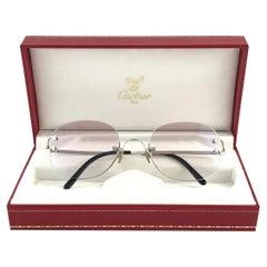 Cartier Serrano Rimless Platine Ultra Light Brown Gradient France Sunglasses