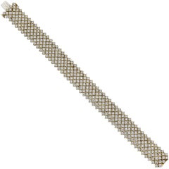 Cartier Seven-Row Diamond Mesh Bracelet
