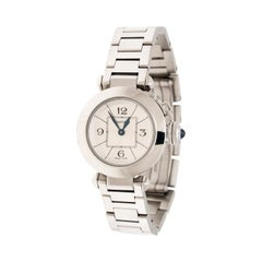 Cartier Silver Stainless Steel Pasha de Cartier 2973 Women's Wristwatch 27 mm