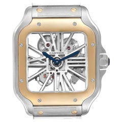 Cartier Skeleton Horloge Santos Steel Yellow Gold Watch WHSA0019 Box Papers