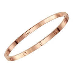 Cartier SM Love Bracelet in 18 Karat Rose Gold, Thin 'C-319'