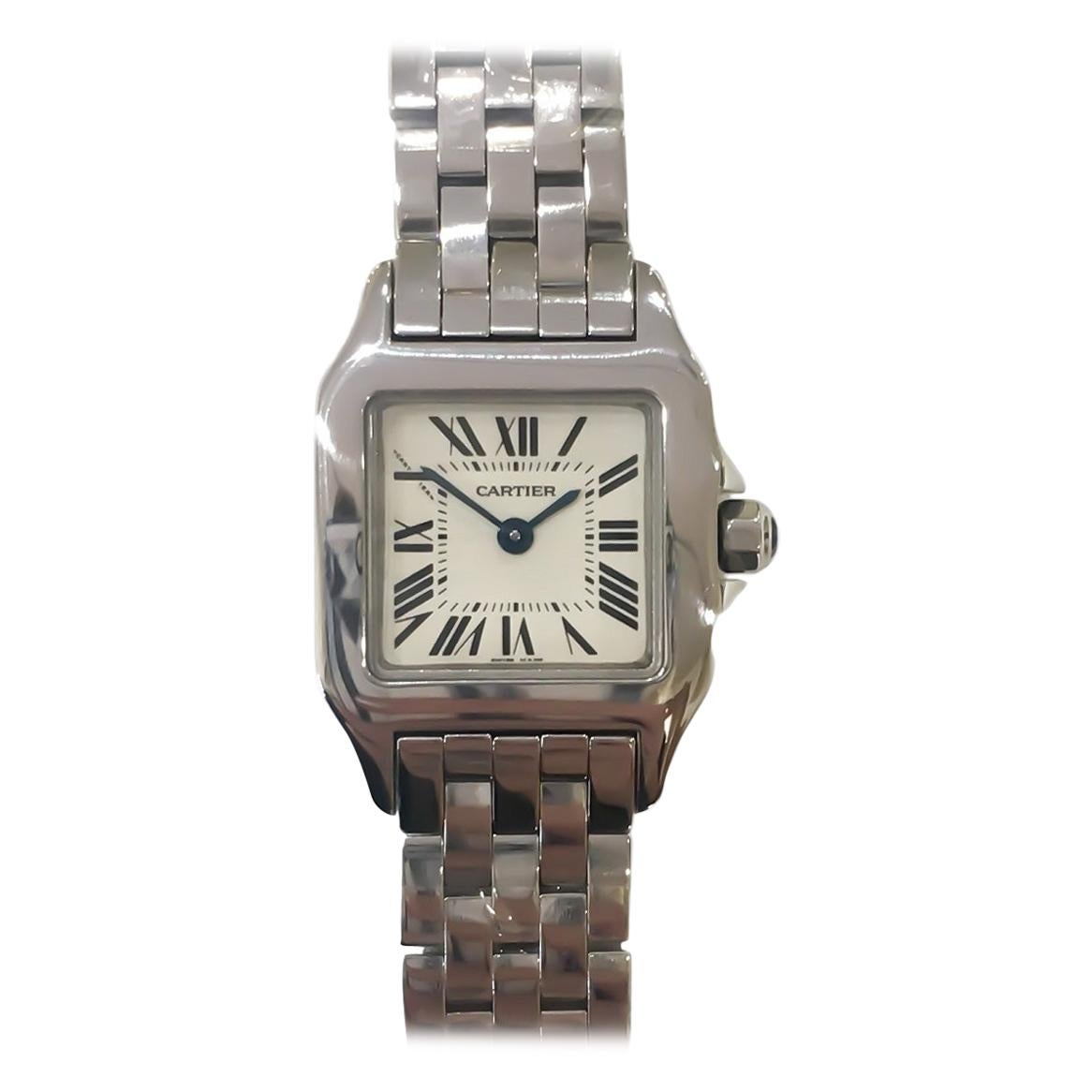 Cartier Small Demoiselle Stainless Steel Quartz Bracelet Watch W25064Z5