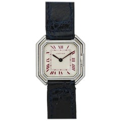 Cartier Small Platinum Ceinture Ladies Wristwatch, circa 1975