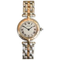 Cartier Small VLC Steel and 18 Karat Yellow Gold 1-Row Watch on Bracelet Quartz
