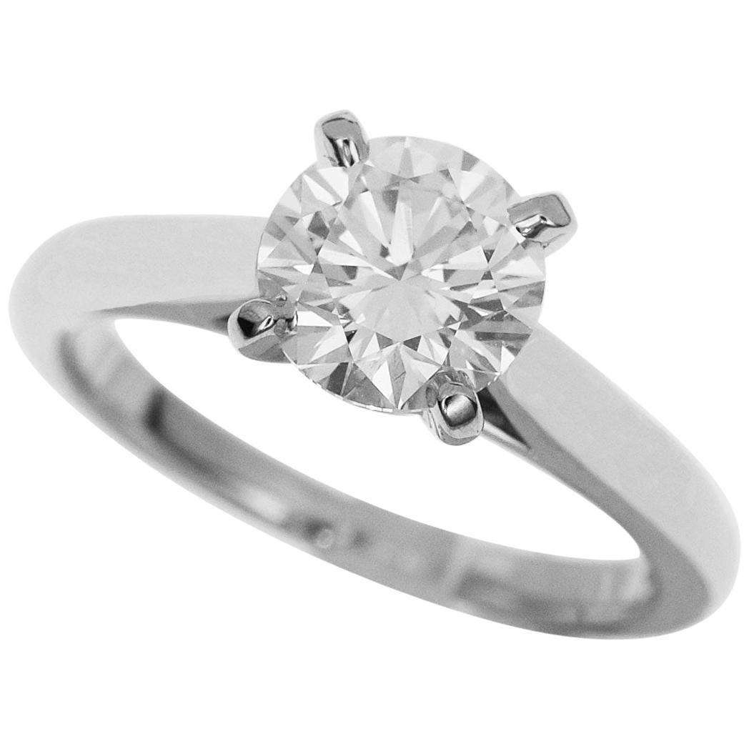 Cartier Solitaire 1.01 Diamond Platinum 1895 Ring