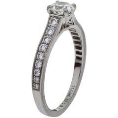 Cartier Solitaire 1895 0.50 ct Diamond Platinum Ring Size 52