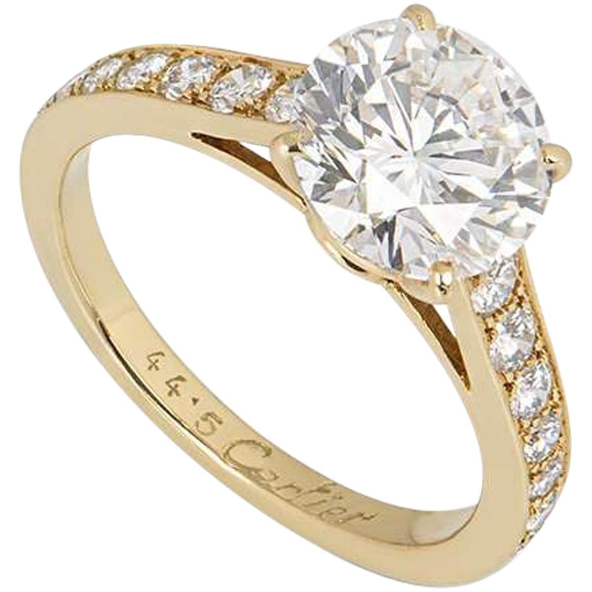 Cartier Solitaire 1895 Diamond Engagement Ring 2.02 Carat D/VS1 GIA Certified