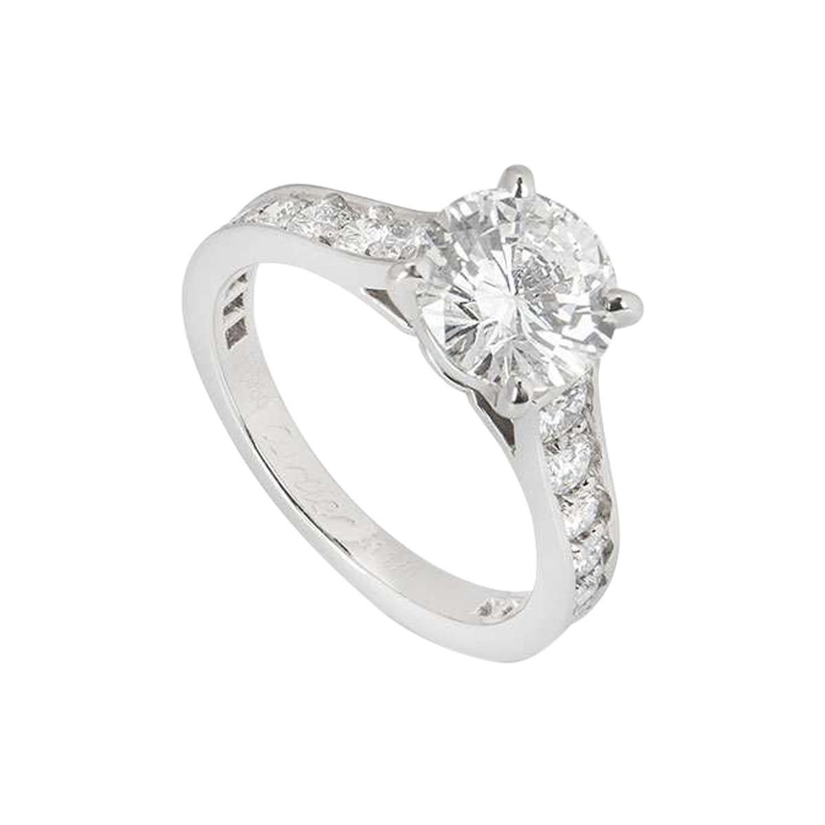 Cartier Solitaire 1895 Diamond Ring 1.70ct G/VVS1