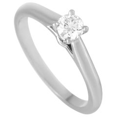 Cartier Solitaire 1895 Platinum 0.23 Carat Diamond Engagement Ring