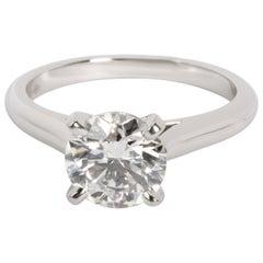 Cartier Solitaire Diamond Engagement Ring in Platinum H VS1 1.41 Carat