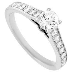 Cartier Solitaire Platinum 0.60 Carat Diamond Engagement Ring
