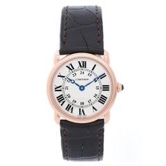 Cartier Rose Gold Solo Ronde Quartz Wristwatch