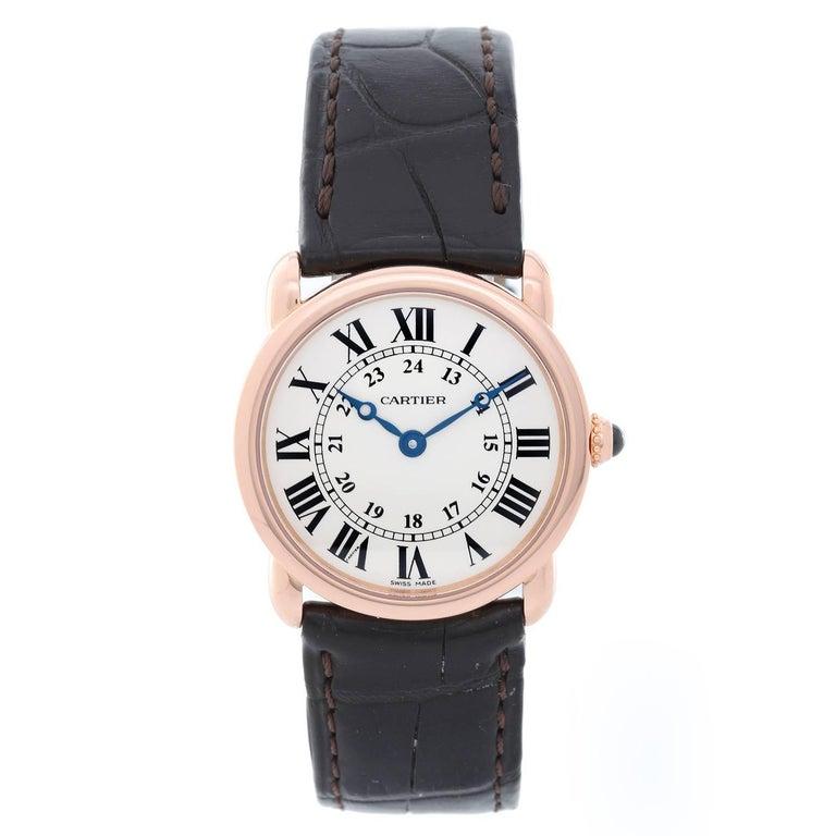 Cartier Rose Gold Solo Ronde Quartz Wristwatch