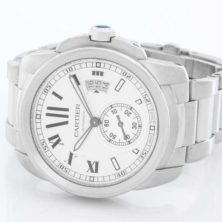 Cartier Stainless Steel Automatic Wristwatch Ref W7100015 In Excellent Condition For Sale In Dallas, TX