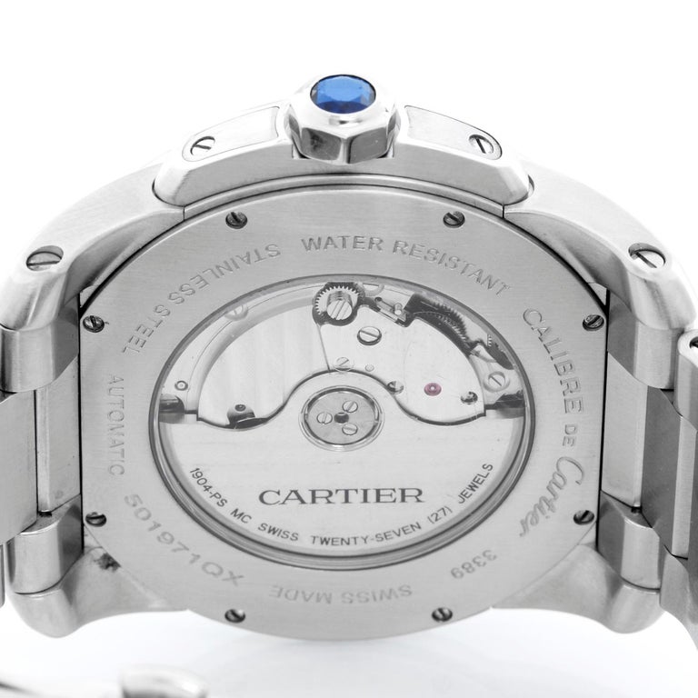 Cartier Stainless Steel Automatic Wristwatch Ref W7100015 For Sale 1