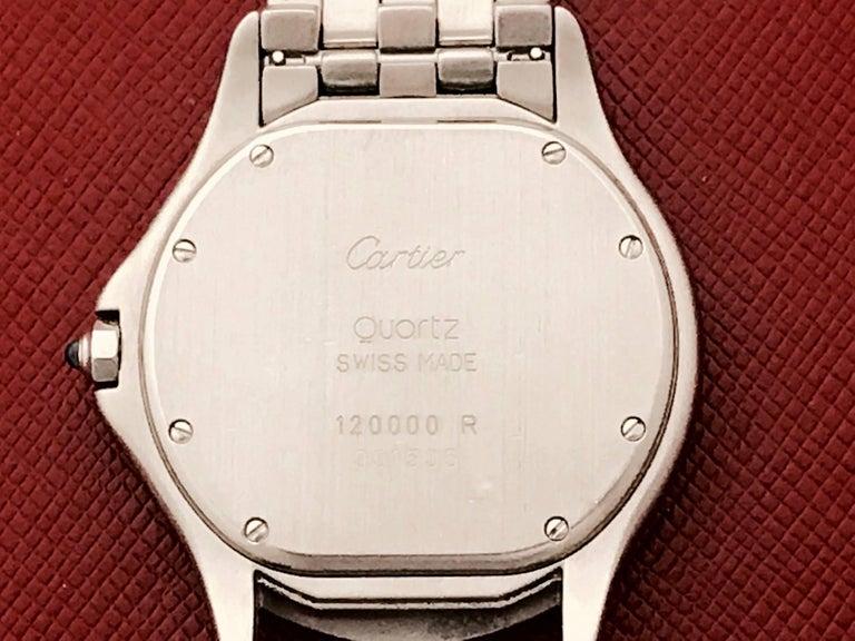 Cartier Stainless Steel Cougar Midsize Quartz Wristwatch For Sale 2