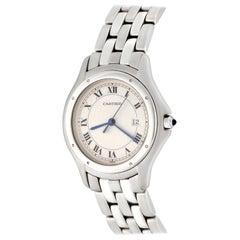 Cartier Stainless Steel Cougar Midsize Quartz Wristwatch