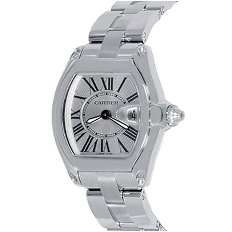 Cartier Ladies Stainless Steel Roadster Quartz Wristwatch Ref W62016V3