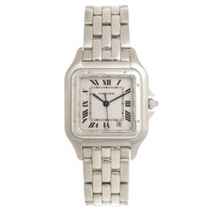 Cartier Stainless Steel Panthere Mid-Size Quartz Wristwatch