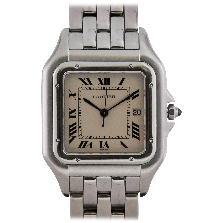 Cartier Stainless Steel Panthere Quartz Wristwatch Ref 1300, circa 1990s