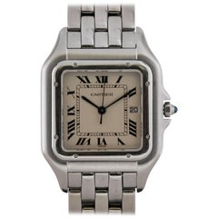 Cartier Stainless Steel Panthere Quartz Wristwatch Ref 1300, circa 1990s