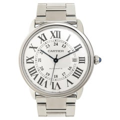 Cartier Stainless Steel Ronde Solo De Cartier Large Automatic Wristwatch