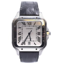 Cartier Stainless Steel Santos 100 Large