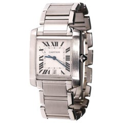 Cartier Stainless Steel Tank 2302 Francaise Automatic Men's Wristwatch